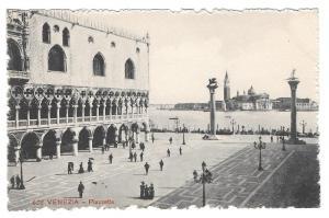 Italy Venezia Piazzetta San Marco Venice Vtg Postcard