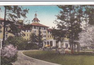 North Carolina Pinehurst Entrance To The Carolina Hotel Handcolored Albertype