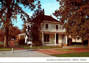 Kansas Abilene Eisenhower Boyhood Home