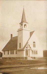 Waterboro ME Church Real Photo Postcard