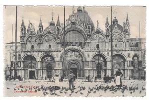 Italy Venezia Chiesa S Marco St Marks Basilica Vtg Postcard