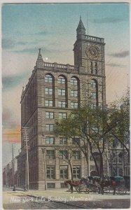 MONTREAL Quebec - NEW YORK LIFE BUILDING 1910s era / HORSE & WAGONS