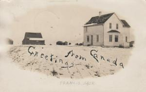 RP: FRANCIS , Saskatchewan , Canada , 1905 ; Main Street in Winter
