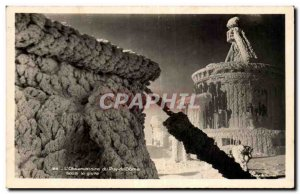 Postcard Modern L & # 39observatoire the Puy de Dome in the frost