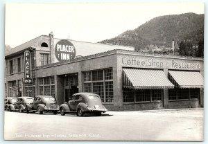 VTG Postcard RPPC Real Photo Idaho Springs CO Sanborn Placer Inn Car Coffee A5