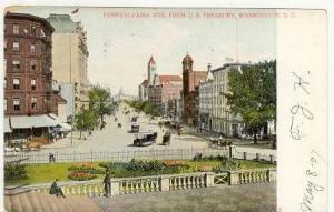 Pennsylvania Avenue from U. S. Treasury, Washington District of Columbia, PU-...