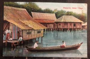 Mint Singapore Picture Postcard Malay Village