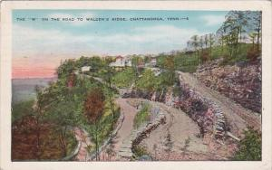 Tennessee Chattanooga The W On The Road To Waldens Ridge 1950