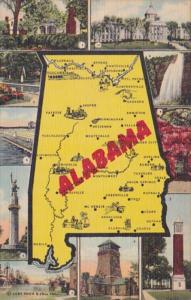 Map Of Alabama Curteich