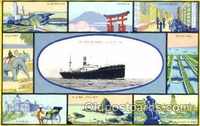 S S  Arizona Maru Osaka Shosen Kaisha Postcard Postcards S S