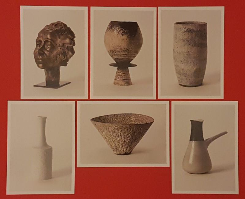Set of 6 NEW Postcards Art Studio Pottery By Lucie Rie & Hans Coper