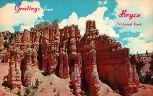 Bryce Canyon Nat'l Park, UT, Fairyland Canyon, Chrome Vintage Postcard g9221