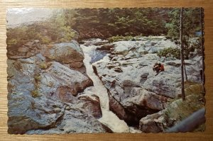 Snow Falls, Little Androscoggin River, West Paris, Maine postcard