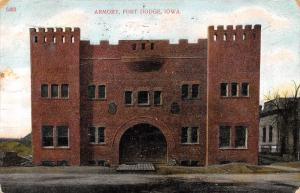 Fort Ft Dodge Iowa~National Guard Armory~1907 Postcard