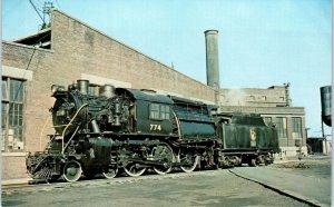 JERSEY CITY, NJ New Jersey  Jersey Central RAILROAD ENGINE #774  c1950s Postcard