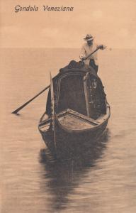 VENETO, Italy, 1900-10s; Gondola Veneziana