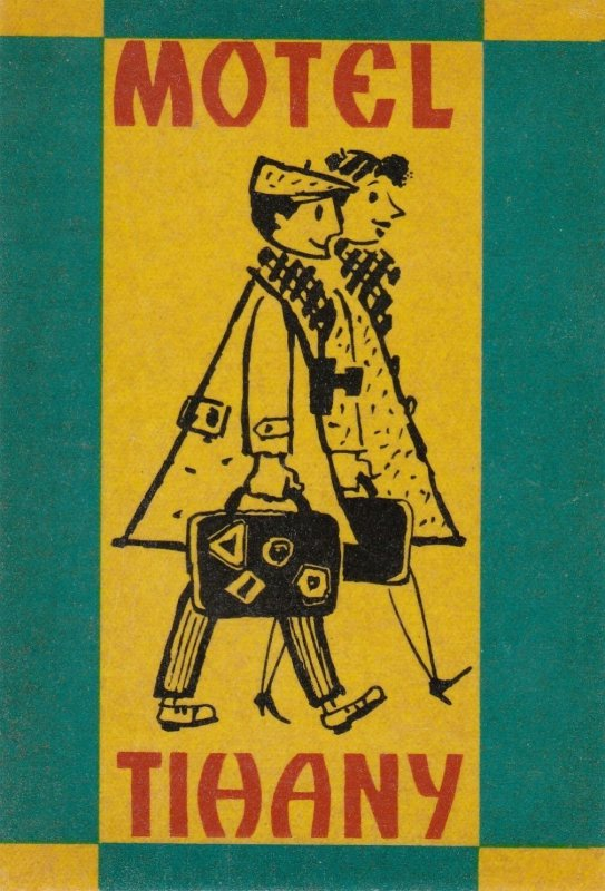 Hungary TIhany Motel Tihany Vintage Luggage Label sk3674