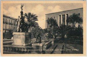 49761  CARTOLINA d'Epoca - FOGGIA citta' :  MONUMENTO ai CADUTI