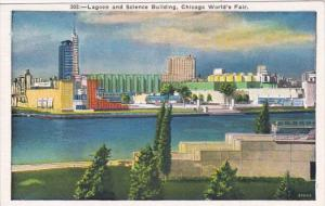 Chicago World's Fair 1933 Lagoon and Science Building