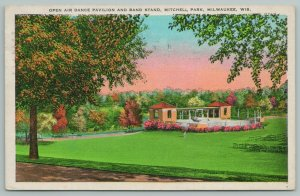 Milwaukee WI~Open Air Dance Pavilion & Band Stand Mitchell Park~Vintage Postcard