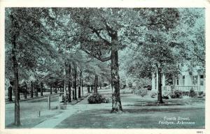 Vintage Postcard Fourth Residential Street Scene Fordyce Dallas County, Arkansas