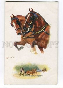 257623 HORSE Race by DRUMMOND Vintage TUCK #8650 PC