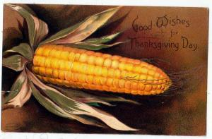 Thanksgiving - Corn, signed Ellen H Clapsaddle