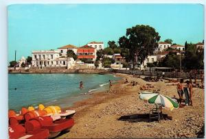 Greece Spetsae Agios Mamas Beach 4X6 Postcard D56