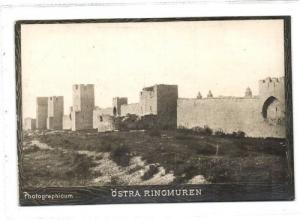 sweden, WISBY, Östra Ringmuren (1890s) Photographicum