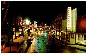 Canada  Moncton  Main street at night