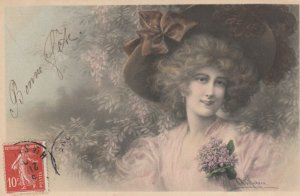 M.M.VIENNE : Female Head Portrait by Wichera , 00-10s