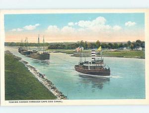W-Border WATER SCENE Cape Cod Canal - Bourne Massachusetts MA hp8778