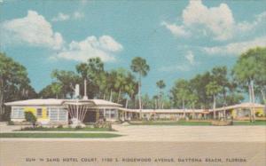 Florida Daytona Sun 'N Sand Hotel Court 1954