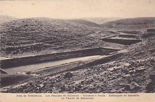 Salomon's Pools, Bethlehem, Palestine, 1900-1910s