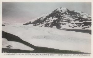 RP: BANFF-JASPER HIGHWAY, Alberta, Canadian Rockies, 1920-40s; Athabaska Glac...