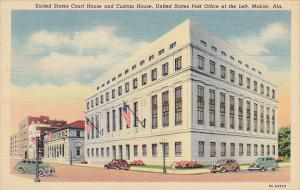 Alabama Mobile Court House Custom House and Post Office Curteich