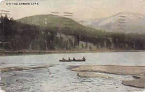 Rowing 'On the Arrow Lake, British Columbia, Canada, PU-1913
