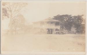 Panama Postcard c1920s SEASIDE INN Hotel Real Photo RPPC Car Central America