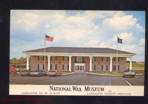 LANCASTER PENNSYLVANIA NATIONAL WAX MUSEUM 1960's CARS VINTAGE POSTCARD PA.