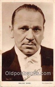 Wallace Beery Movie Actor / Actress, Entertainment Postcard Post Card unused