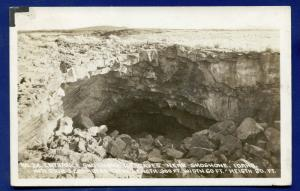 Shoshone Ice Caves entrance Idaho id real photo postcard RPPC