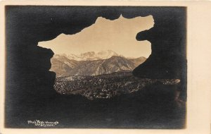 G23/ Pikes Peak Colorado RPPC Postcard The Keyhole c1910 Geology