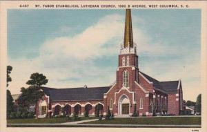 South Carolina West Columbia Mount Tabor Evangelical Lutheran Church 100 B Av...