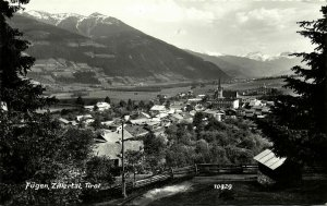 austria, FÜGEN, Tyrol Tirol, Zillertal, Panorama (1960s) RPPC Postcard