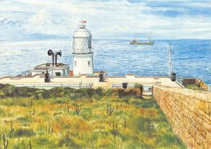 Postcard Art Pendeen Lighthouse, Cornwall by P. Chesterton B22