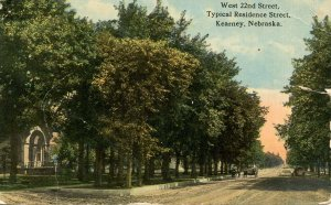 NE - Kearney. West 22nd Street circa 1913           (crease, tear)