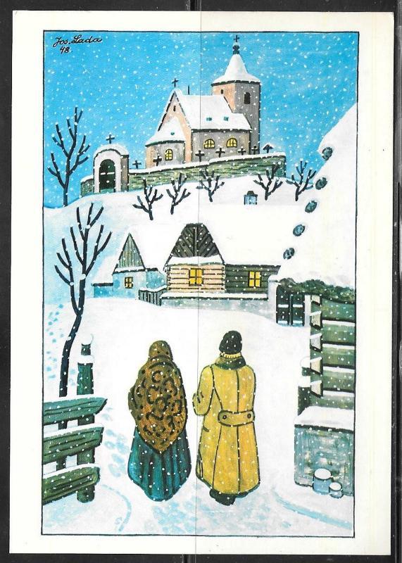 Czechoslovakia winter scene, pictorial meter cancel, 1987