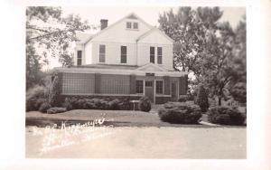 Hamilton Illinois Residence Office Real Photo Antique Postcard K57819