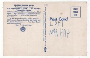 Haines City, Florida, Early Views of The Central Florida Motel