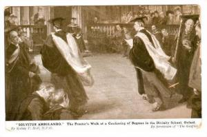Solvitur Ambulando, The Proctor's Walk At A Conferring Of Degrees In The Div...